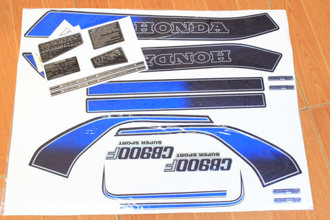 Talon Billets - 81 Honda CB900F Complete Decal Set Pin Striping Warning Caution Decals