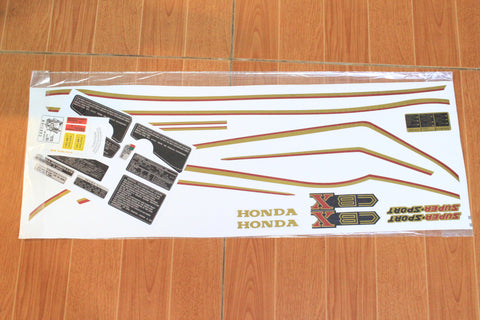 Talon Billets - 79 Honda CBX Complete Decal Pin Striping Decals Set RED