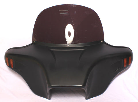 Talon Billets - Batwing Windshield Fairing 4 Suzuki Boulevard C50 C50t 05-Later Unpainted Red