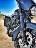 Talon Billets - ENGINE GUARD HIGHWAY CRASH BAR 4 HARLEY TOURING ROAD KING ELECTRA FL 09-19 1.5""