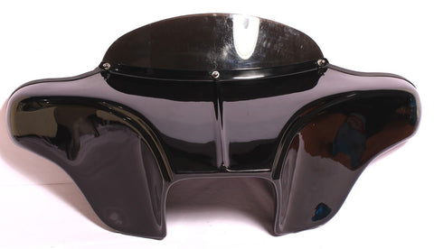 Talon Billets - DOUBLE DIN RADIO PAINTED BATWING FAIRING WINDSHIELD 4 HARLEY TOURING ROAD KING ELECTRA GLIDE
