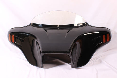 Talon Billets - BATWING FAIRING WINDSHIELD TRIUMPH ROCKET III TOURING ALL CUTOUT PAINTED AMBER