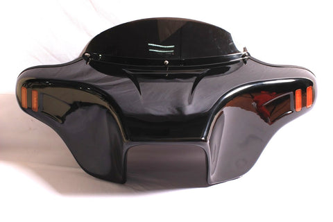 "Talon Billets - Batwing Fairing Windshield Suzuki VL800K intruder volusia 6x9""SPK Painted Red"