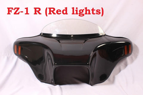 "Talon Billets - Unpainted Batwing Fairing Windshield Harley FLD Dyna Switchback 4X5"" Holes"