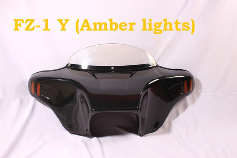 Talon Billets - Batwing Windshield Fairing 4 Suzuki Boulevard C50 C50t 05-Later Unpainted Amber