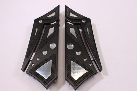 Talon Billets - FOOPEGS FLOORBOARDS FOOTBOARDS FRONT 4 HARLEY TOURING ROAD KING SOFTAIL GLIDE FL