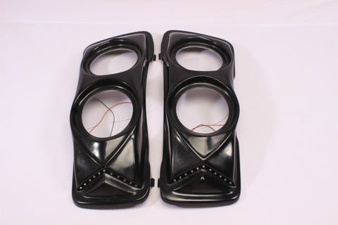"Talon Billets - Bagger Saddlebag Lids Pair 4 X 6 1/2"" Speakers Harley Touring Stretched Extended"
