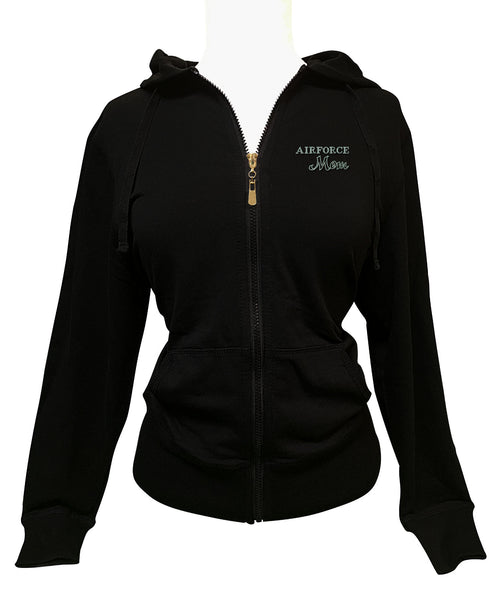 Air Force Mom Rhinestone Hoodie