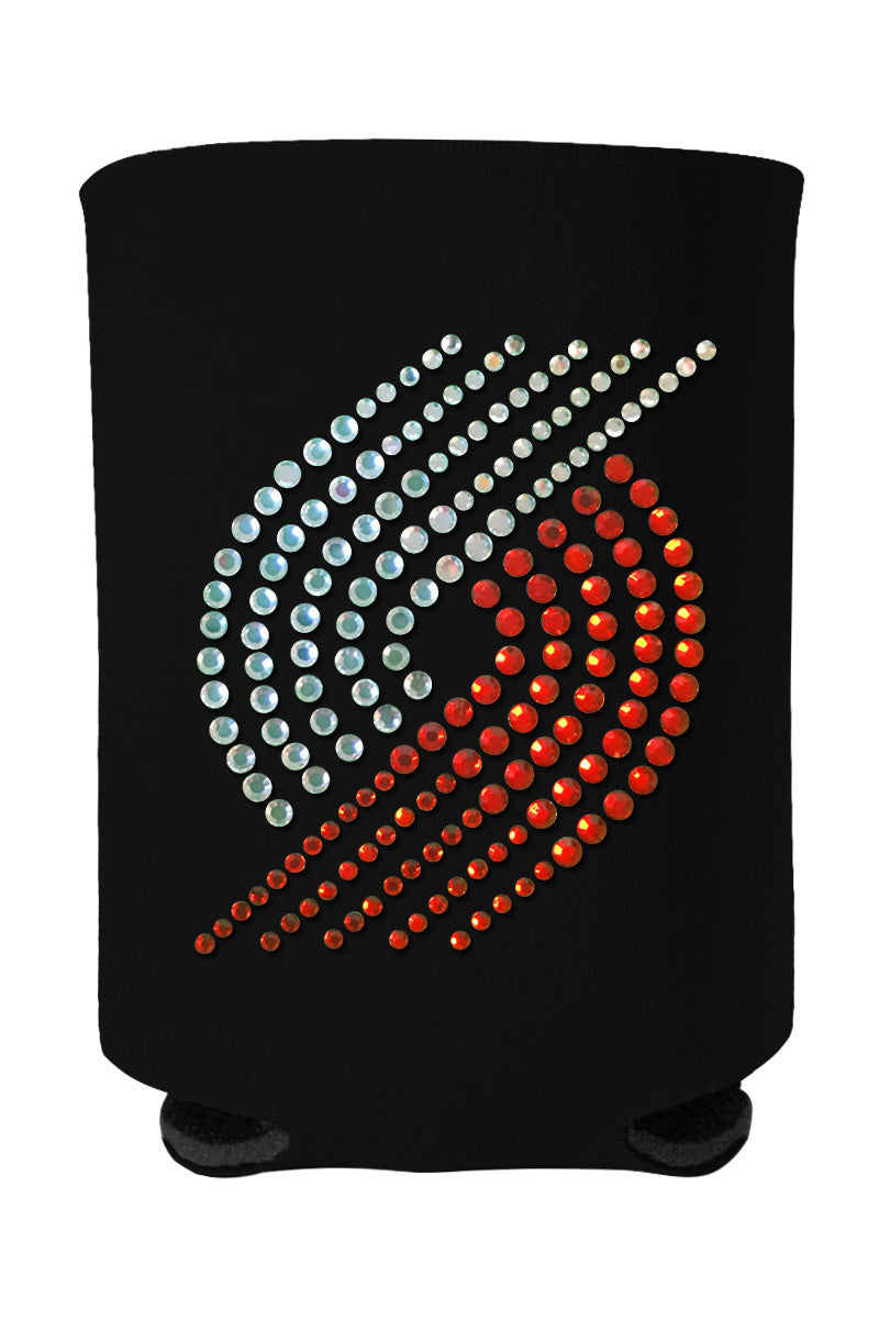 Buy One GET One FREE - Trail Blazers Rhinestone Logo Can Cooler