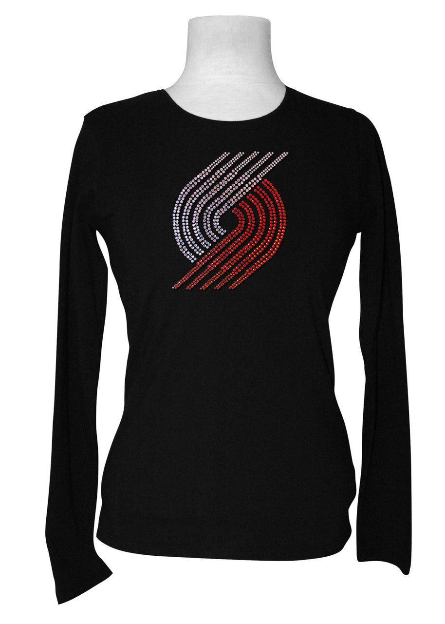 Official Portland Trail Blazers Rhinestone Long Sleeve Tee