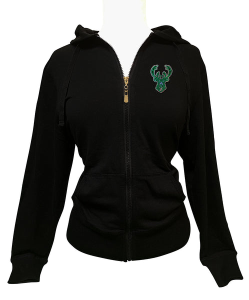 Official Milwaukee Bucks Rhinestone Hoodie