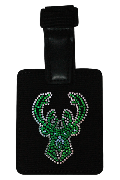 Milwaukee Bucks Rhinestone Luggage Tag