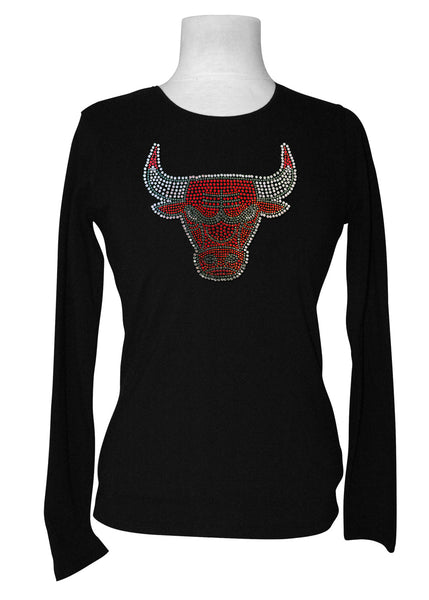 Official Chicago Bulls Rhinestone Long Sleeve Tee