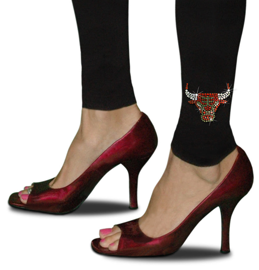 Official Chicago Bulls Rhinestone Leggings