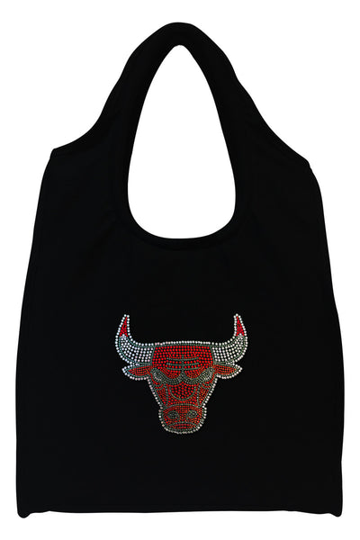 Chicago Bulls Full-Size Rhinestone Logo Tote Bag