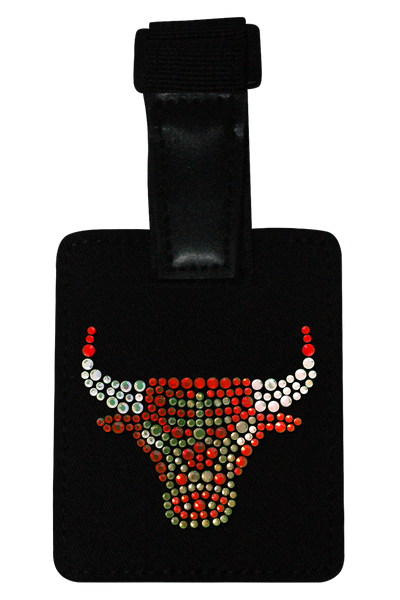 Chicago Bulls Rhinestone Luggage Tag