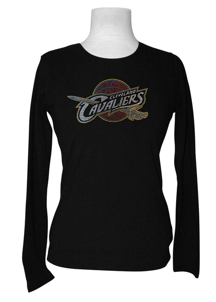 Official Cleveland Cavaliers Rhinestone Long Sleeve Tee