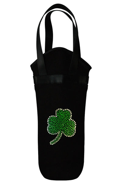Boston Celtics Rhinestone Logo Wine Tote