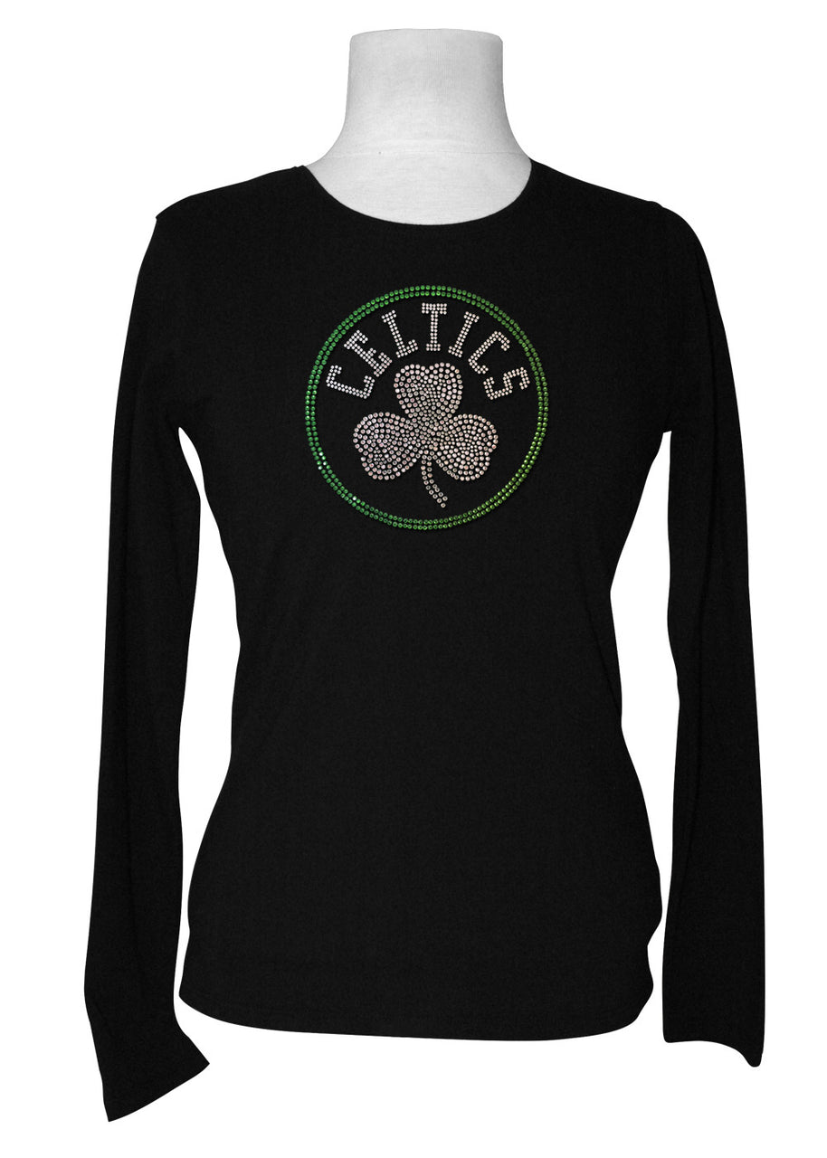 Official Boston Celtics Rhinestone Long Sleeve Tee