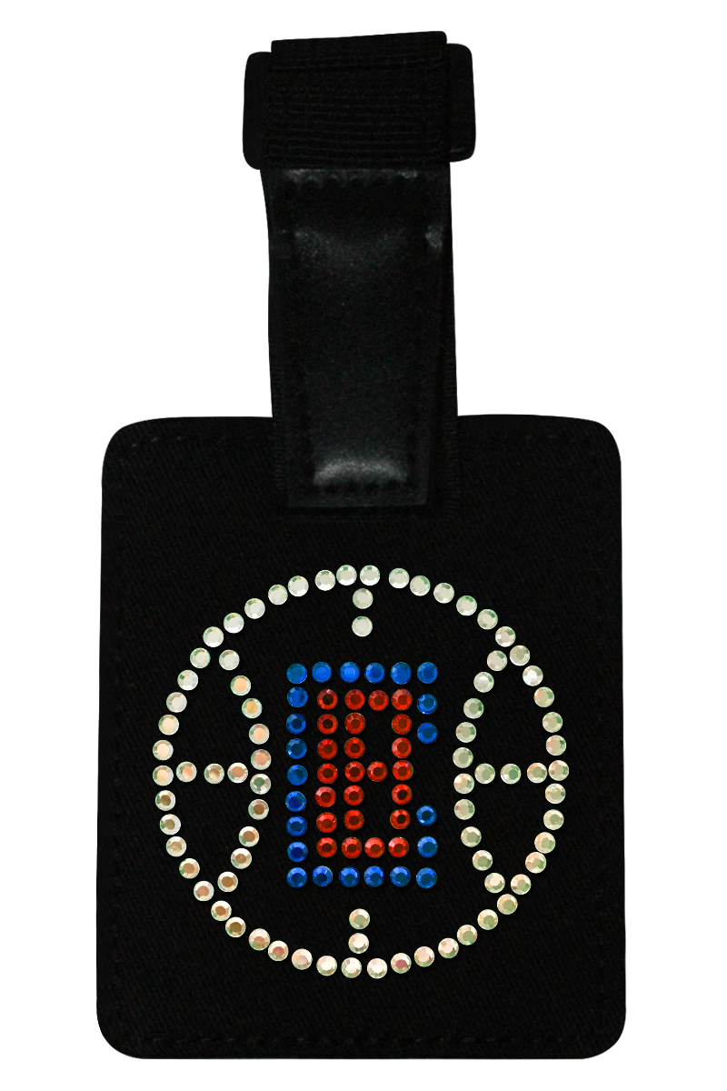 LA Clippers Rhinestone Luggage Tag