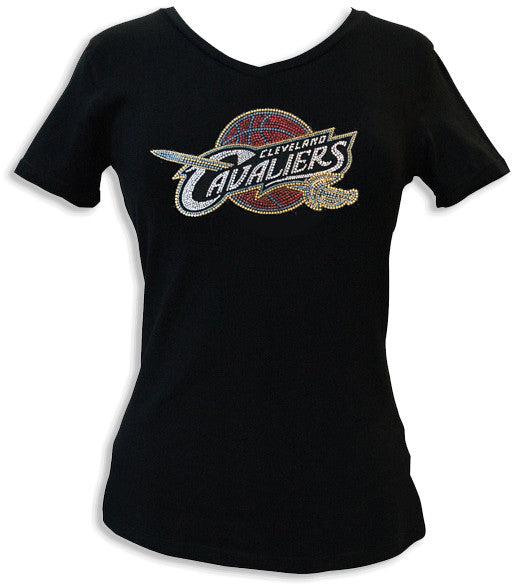 Official Cleveland Cavaliers Rhinestone V-Neck Tee