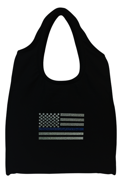 Blue Line Flag Tote Bag