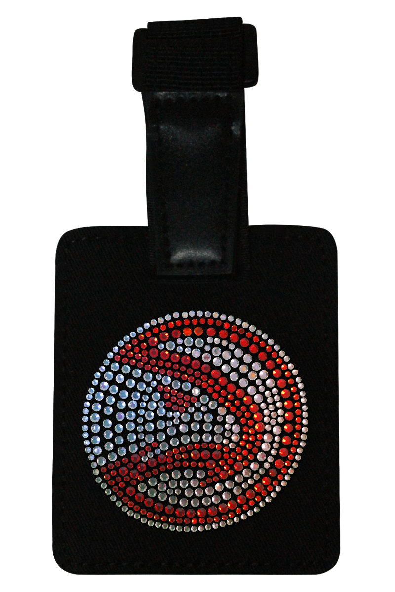 Atlanta Hawks Rhinestone Luggage Tag