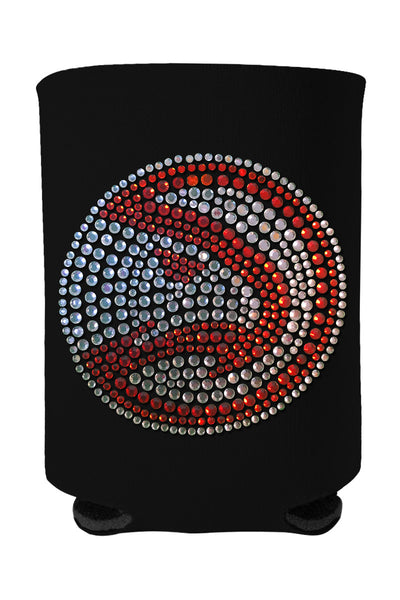 Buy One GET One FREE - Atlanta Hawks Rhinestone Logo Can Cooler