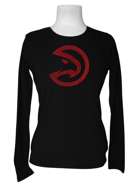 Official Atlanta Hawks Rhinestone Long Sleeve Tee