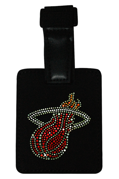 Miami Heat Rhinestone Luggage Tag