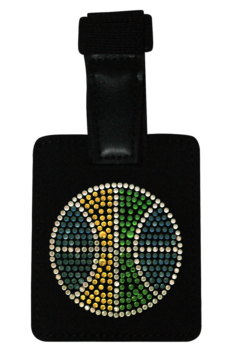 Utah Jazz Rhinestone Luggage Tag
