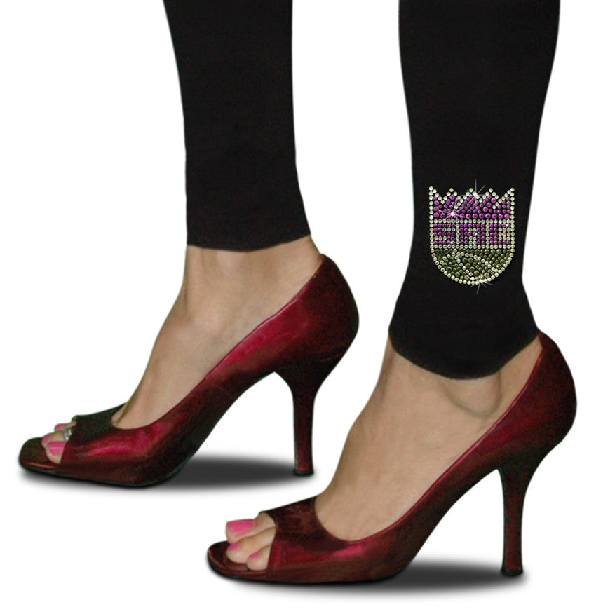 Official Sacramento Kings Rhinestone Leggings