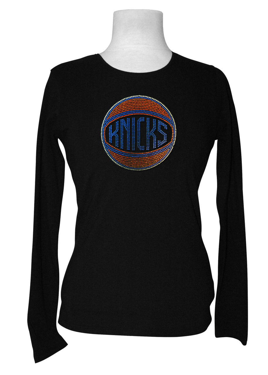 Official New York Knicks Rhinestone Long Sleeve Tee