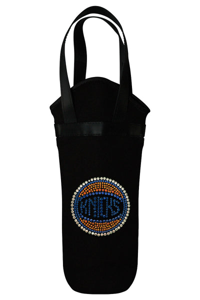 New York Knicks Rhinestone Logo Wine Tote