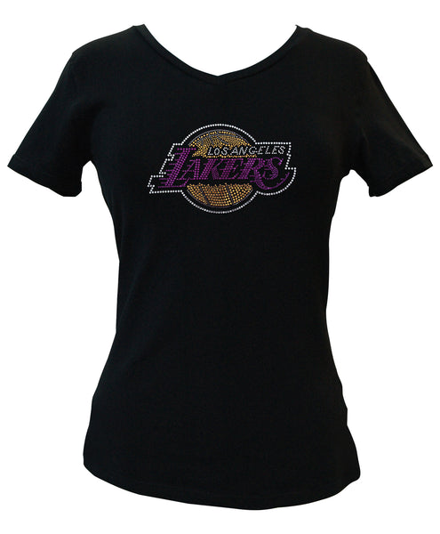 Official Los Angeles Lakers Rhinestone V-Neck Tee