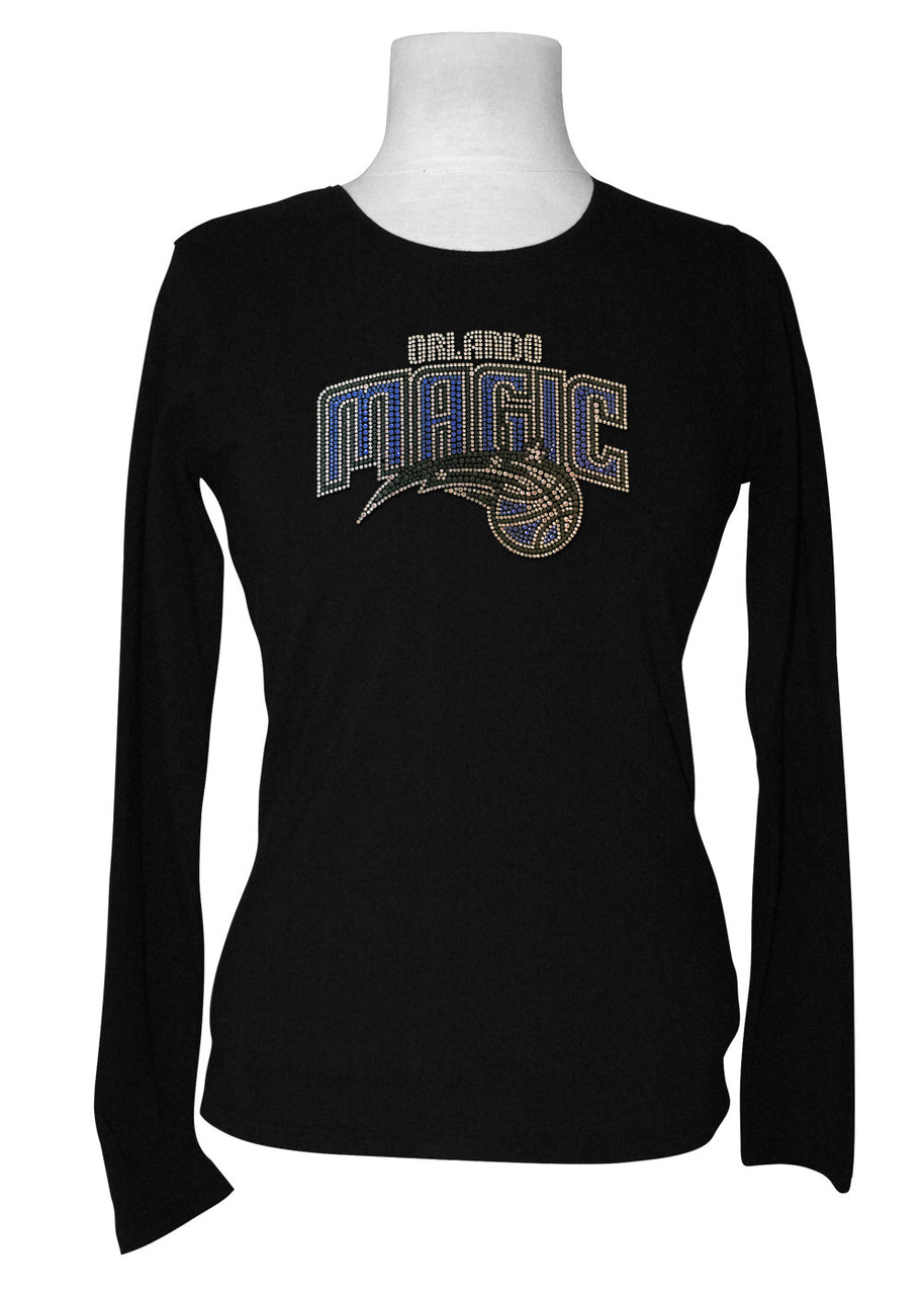 Official Orlando Magic Rhinestone Long Sleeve Tee