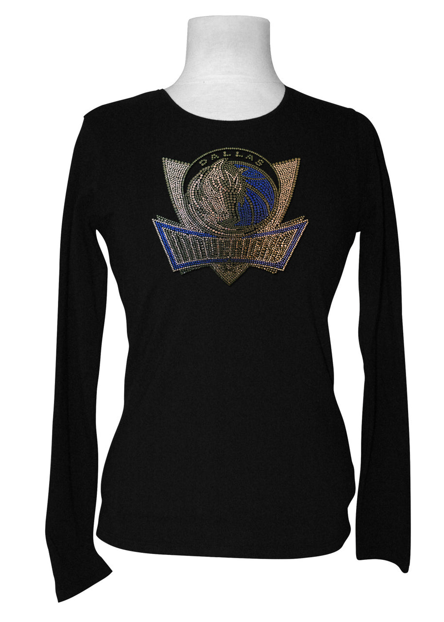 Official Dallas Mavericks Rhinestone Long Sleeve Tee