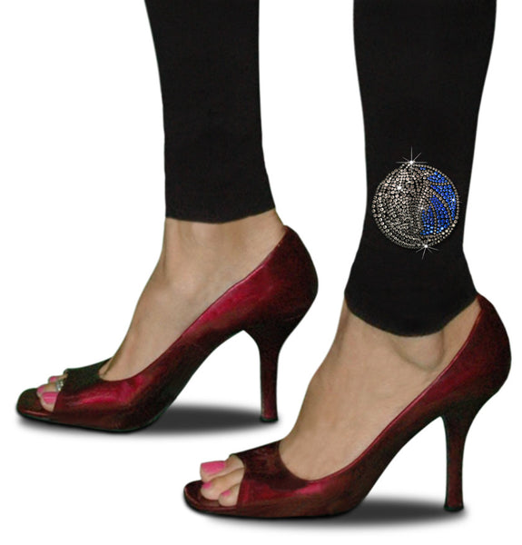 Official Dallas Mavericks Rhinestone Leggings