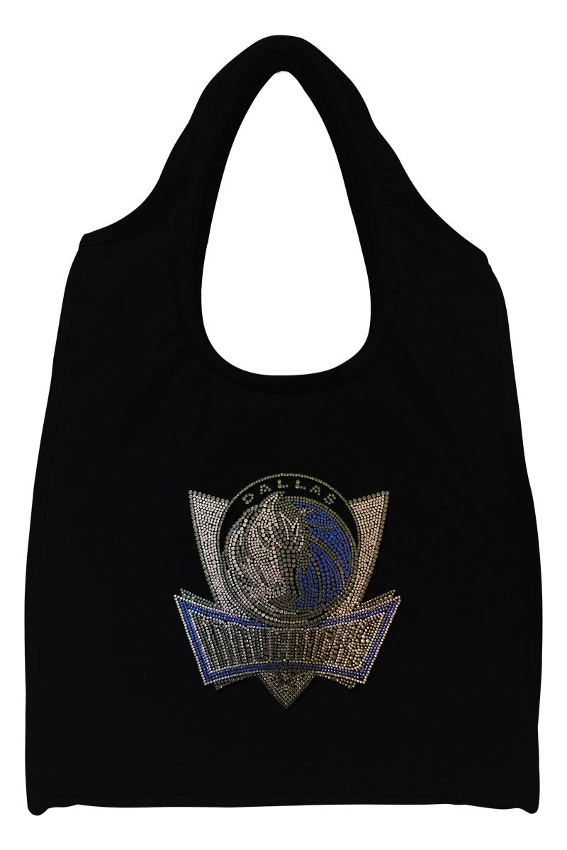 Dallas Mavericks Full-Size Rhinestone Logo Tote Bag