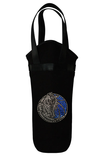 Dallas Mavericks Rhinestone Logo Wine Tote