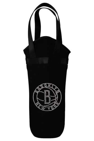 Brooklyn Nets Rhinestone Logo Wine Tote
