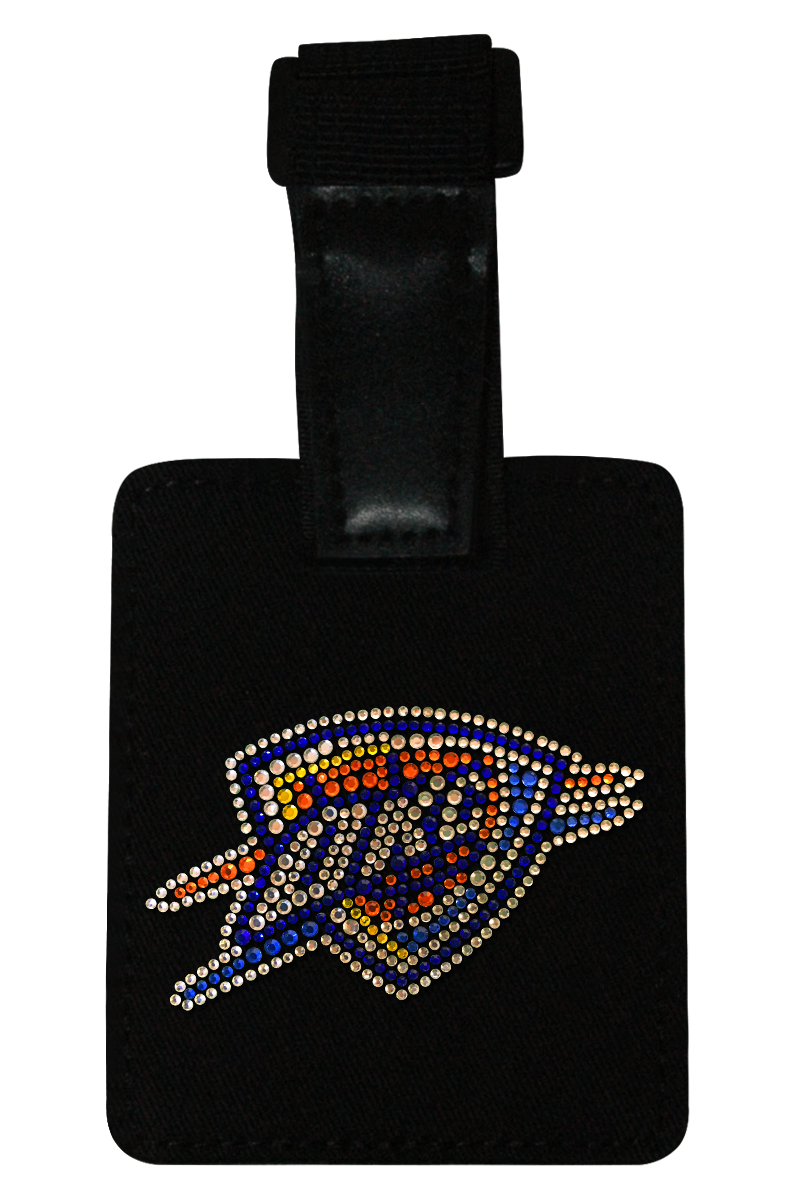 OKC Thunder Rhinestone Luggage Tag