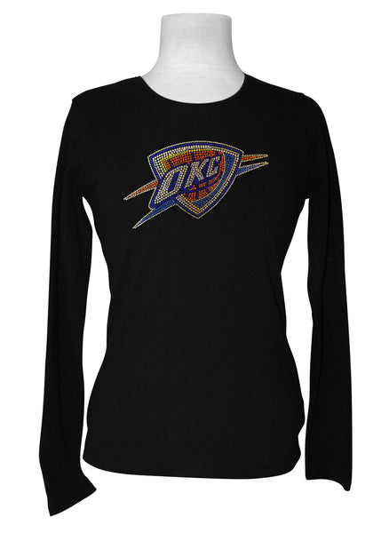 Official Oklahoma City Thunder Rhinestone Long Sleeve Tee