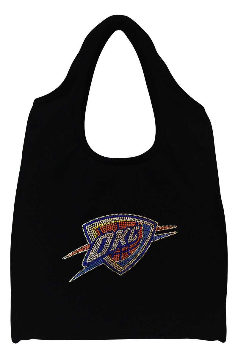 Oklahoma City Thunder Full-Size Rhinestone Logo Tote Bag