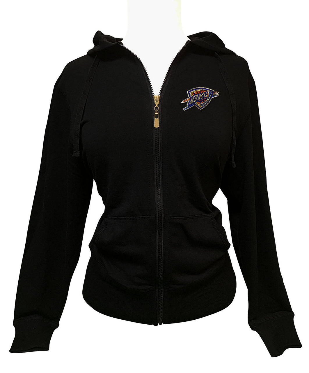 Official Oklahoma City Thunder Rhinestone Hoodie