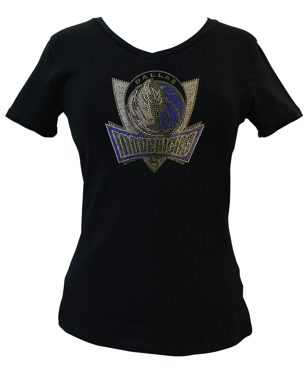 Official Dallas Mavericks Rhinestone V-Neck Tee