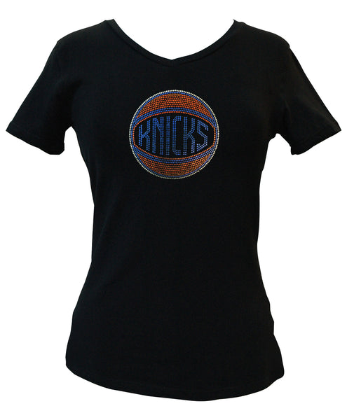 Official New York Knicks Rhinestone V-Neck Tee