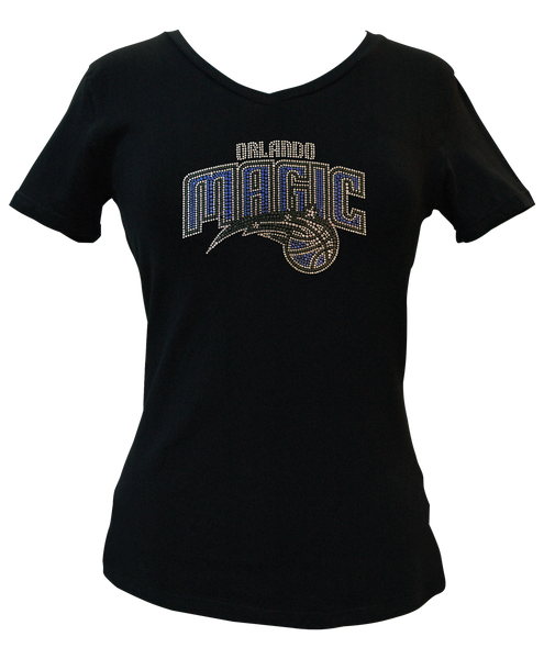 Official Orlando Magic Rhinestone V-Neck Tee