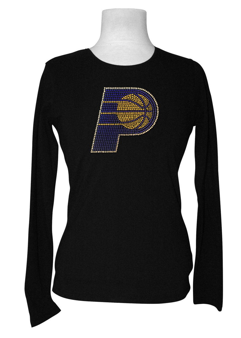 Official Indiana Pacers Rhinestone Long Sleeve Tee