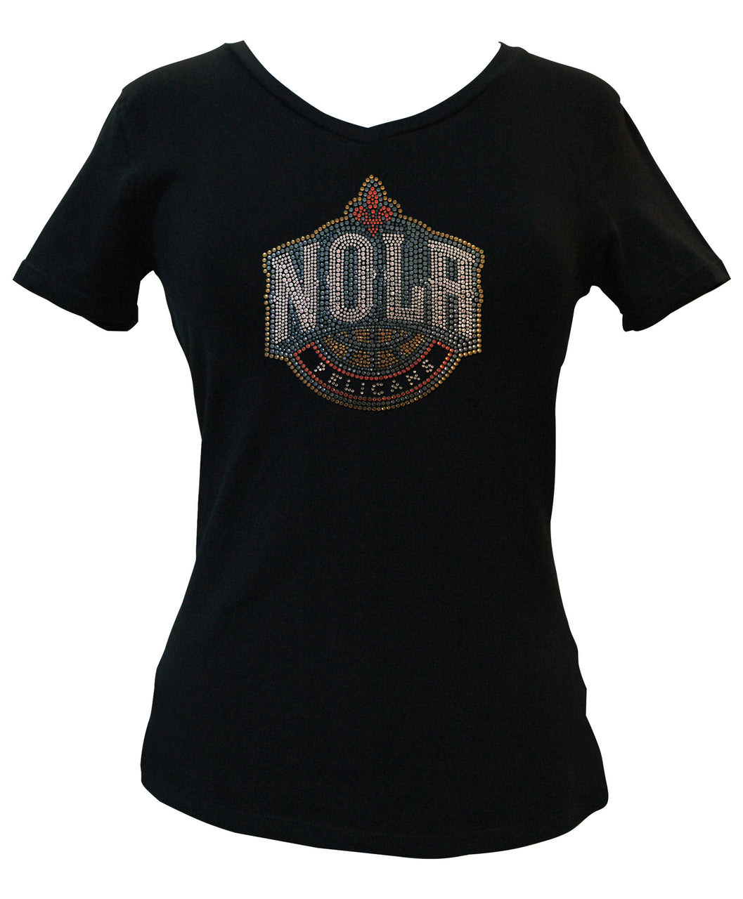 Official New Orleans Pelicans Rhinestone V-Neck Tee